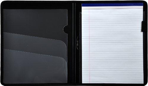 Lion Plastic Padfolio with Pad, Black, 1 Padfolio (97000-BK) (Plastic Padfolios)