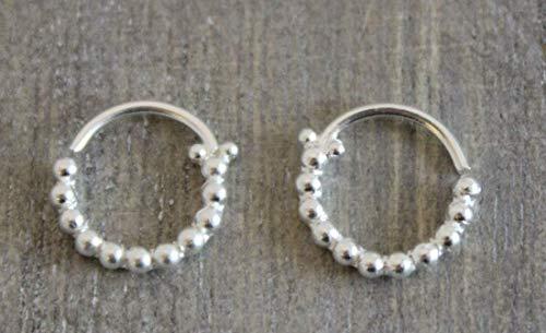 10mm Sterling Silver Ball Hoop Earrings