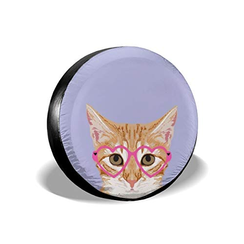 Tire Cover Orange Tabby Cute Hipster Glasses Kitten for sale  Delivered anywhere in Canada