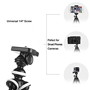 41TROZdijOL. AA300  - Adjustable Tripod Stand Holder for iPhone, Cellphone,Digicam with Common Clip and Distant