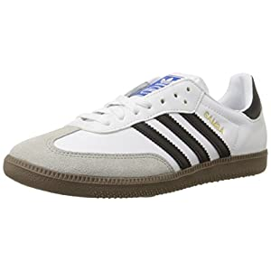 adidas Originals Men's Samba Soccer-Inspired Sneaker,White/Black/Gum,14 M US