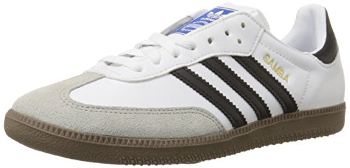 adidas Originals Men's Samba Soccer-Inspired Sneaker,White/Black/Gum,14 M US