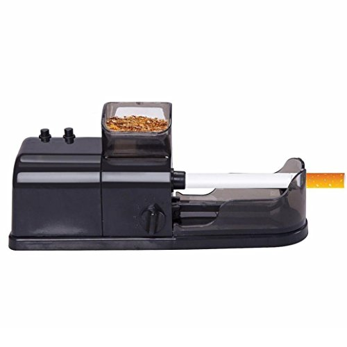 Electric Automatic Cigarette Rolling Machine ,Vanvler Tobacco Maker Cigarette Roller with Tool Newest (Black)