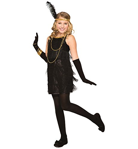 Forum Novelties Flapper Child Costume, Black, Medium