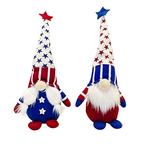 Veterans Day ,Patriotic Gnomes Plush Tomte Decoration 4th of July Gift Handmade Dolls Household Ornaments Veterans Day Doll Decor