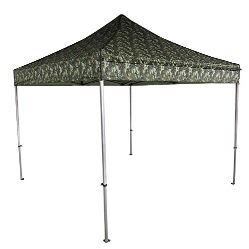 WALKING SNAIL 10ft x 10ft Pop up Canopy Portable Shade Waterproof Commercial Instant Shelter with Wheeled Carry Bag Camouflage ()