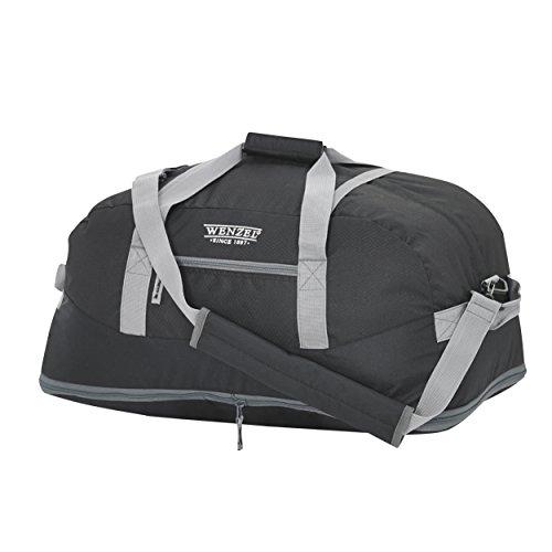 Wenzel Dual Zone Duffle Bag, Black, 24 x 13 x 11-Inch