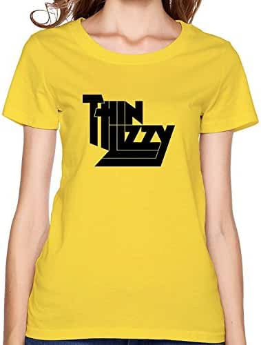 Female Summer 100% Cotton Thin Lizzy T Shirts