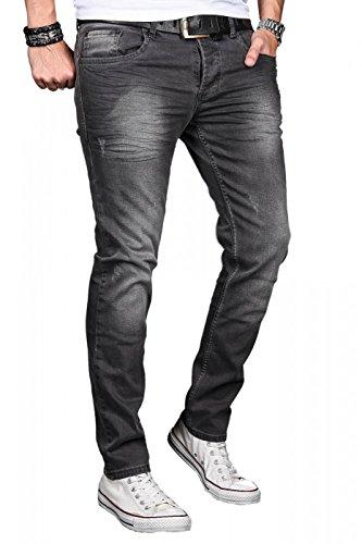 Grigio Attillata Basic Alessandro Uomo Jeans Salvarini nxZX6X