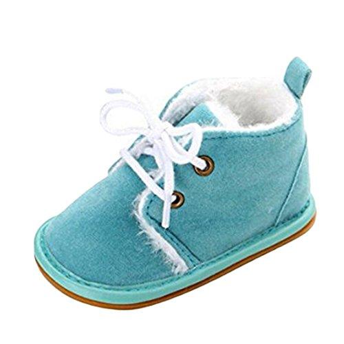 VWH Baby weiche Sohle Schnee Aufladungen Krippe Schuhe Kleinkind Stiefel, 0-18 Monate Azurblau