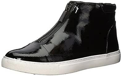 Kenneth Cole New York Women's 7 Kayla Front Zip Sneaker Bootie, Black Patent, 6 Medium US