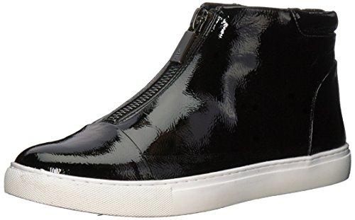 Kenneth Cole New York Womens 7 Kayla Rits Aan De Voorkant Bootie Sneaker Zwart Patent