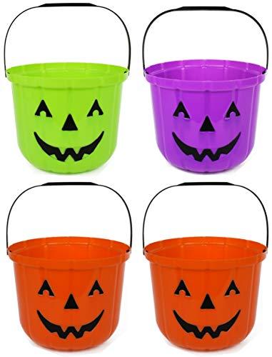 Black Duck Brand Set of 4 Themed Halloween Treat Buckets! 9