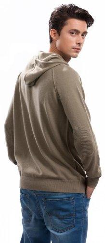 Hoodies for Men - 100% Cashmere - by Citizen Cashmere (Khaki, M) 42 112-12-02 by Citizen Cashmere (Image #4)