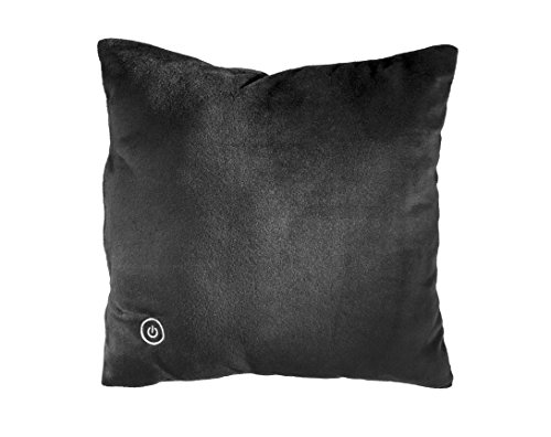 Sharper Image SMG4003BK Vibrating Plush Pillow, Travel Friendly, Hypoallergenic, Soft & Lightweight, Battery Operated