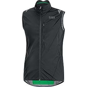 Gore Bike Wear Men's Cycling Vest, Super-Light, Compact, GORE WINDSTOPPER, WS AS Vest, Size S, Black, VWLELE