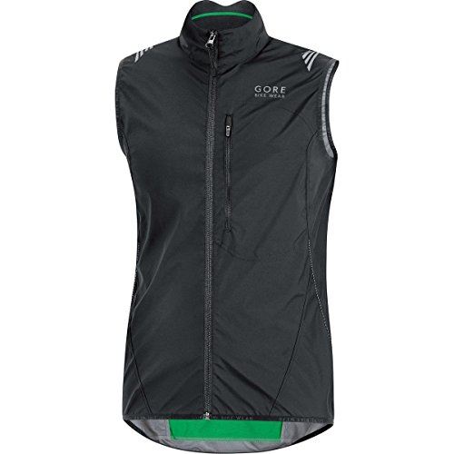 GORE BIKE WEAR Men's Cycling Vest, Super-Light, Compact, GORE WINDSTOPPER,  WS AS Vest, Size L, Black, VWLELE