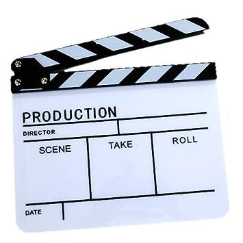EX-Pro - acrílico claqueta Pizarra para TV Film Movie ...