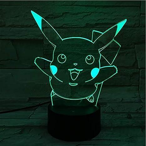 Pokemon para asignar luz nocturna de niños sensor táctil LED ...