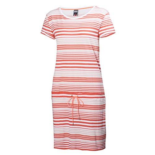 Helly Hansen W Naiad Dress - Vestido para mujer rojo (239 sorbet stripe)