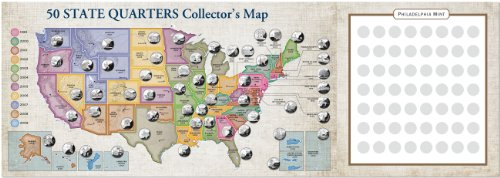 Peter Pauper Press Quarters Collector's Maps Value Pack (...