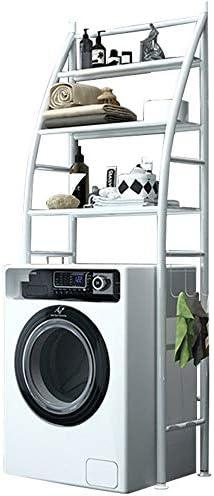 トイレラック ルームオーガナイザーホワイトメタル浴室スペースセーバー3層以上のザ・洗濯機と乾燥機のストレージシェルフランドリー バスルームに適しています (色 : 白, サイズ : 65 x 25 x 166cm)