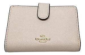 b7945f51010e ... Coach Crossgrain Leather Medium Corner Zip Wallet F11484 (Chalk). upc  191202211537 product image1