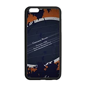 Custom Chicago Bears Pattern Phone Case Laser Technology for iPhone 6 Plus Designed by HnW Accessories by runtopwell