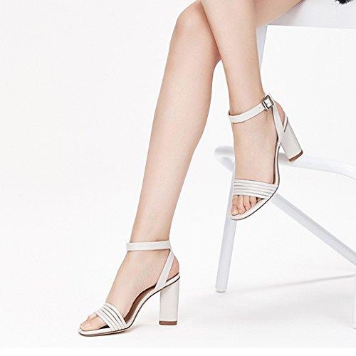 tacchi estate femmina sexy una a Nero quadrata linea fibbia dei con a bene albicocca e JIANXINliangxie nbsp; sandali sandali 35 testa jianxin qBaYwH