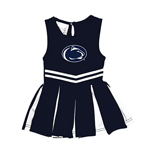 Penn State Nittany Lions NCAA Newborn Infant Baby Cheerleader Bodysuit Dress (6 Months)