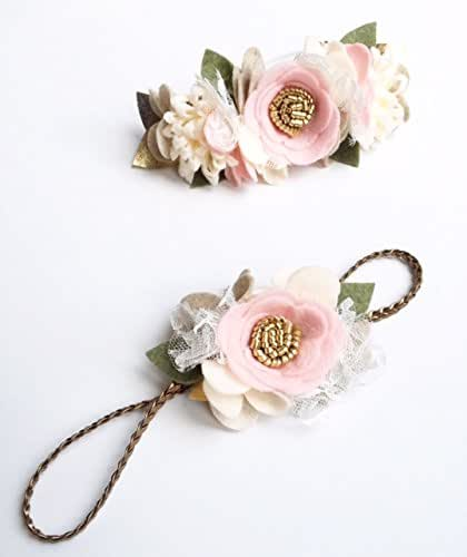 Amazon.com  Felt Flower Crown - Baby Flower Crown - Mommy and Me Outfit - Flower  Girl Crown - Flower Headband - Baby Headband - Mommy and Me Headband  ... f793aa16f3f