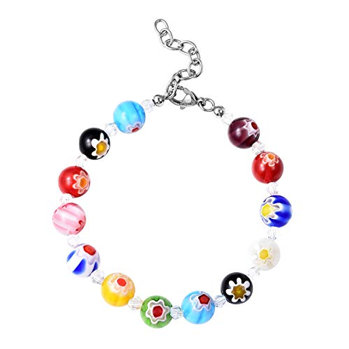 Millefiori Glass Beaded Bracelet - Shop LC Delivering Joy Round Bead