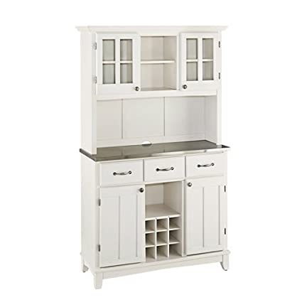 amazon com home styles 5100 0023 22 5001 series stainless steel rh amazon com Storage Buffet and Hutch Kitchen Buffet and Hutch