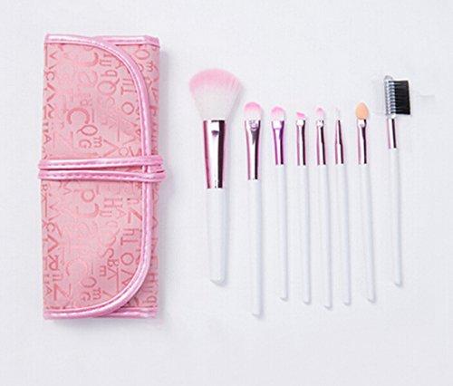 Home Kitty 8 PCS Makeup Brushes Premium Synthetic Kabuki Makeup Brush Set Cosmetics Foundation Blending Blush Eyeliner Face Powder Brush Makeup Brush Kit
