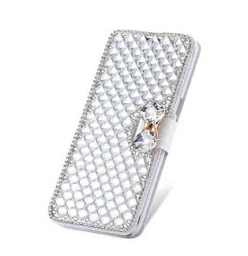 Crystal Bling Case Cover - Jesiya Luxury Bling Bowknot Crystal Diamond Wallet Flip Case Cover Wallet Case for Apple iPhone 6 plus/ 6s plus 5.5inch