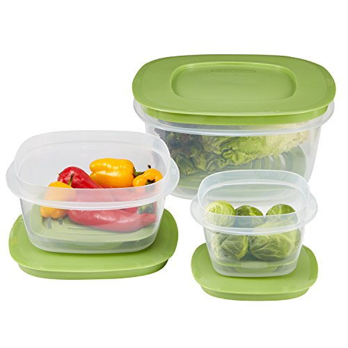 Rubbermaid Produce Saver Food Storage Container, 6-Piece Set - Rubbermaid Containers Orange