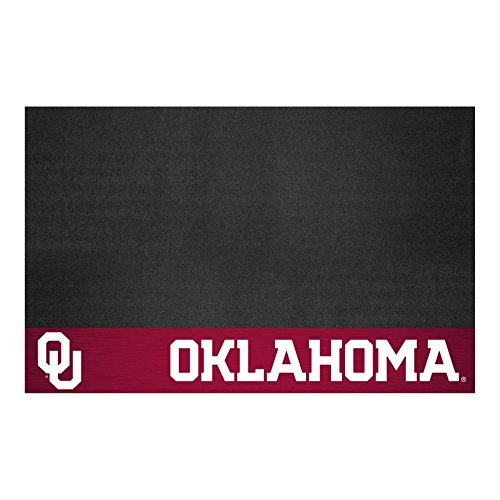 FANMATS NCAA University of Oklahoma Sooners Vinyl Grill Mat