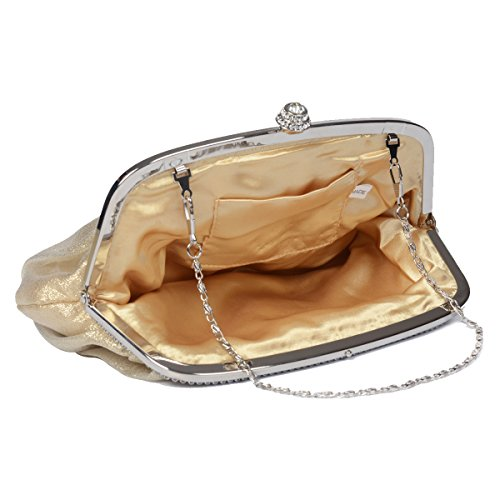 Envelope Womens Satin Evening White Party LOOSLOON Clutch Cocktail Pleated Wedding Vintage Handbag dgqEBXxwXI