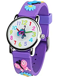 3D Kids Watches Healthy Material Purple Rubber Band...
