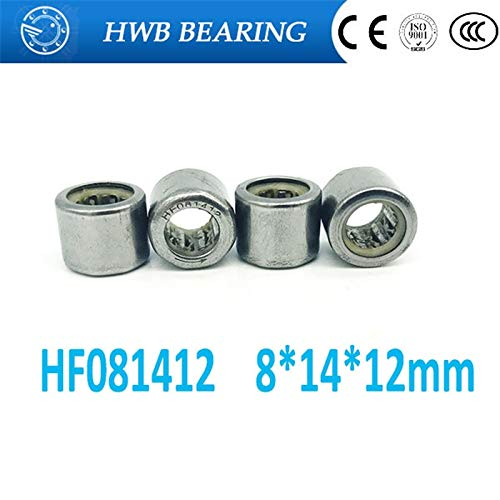 (Ochoos 10pcs HF081412 FC-8 one Way Clutch Needle Roller Bearing 8X14X12mm Bearing 8mm Shaft Hexagon Head)