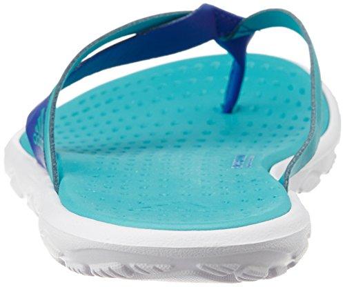 adidas Damen BORAMA Flex CF Y Zehentrenner Verde / Azul / Blanco (Verimp / Azufue / Ftwbla)