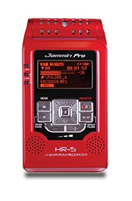 Jammin Pro HR5RED Studio Flash Recorder, Red by DJ Tech Pro USA, LLC