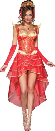 InCharacter Costumes Dragon Lady Costume, Red/Gold, X-Small