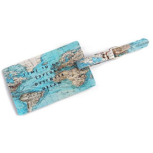 Orcbee  _Fashion Cute Air Plane Pattern Travel Luggage Bag Tags Handbag ID Tag Name Card (C)