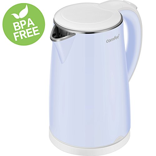 Electric Kettle Teapot, Fast Water Heater Boiler, 1.7 Liter, 1500W BPA-Free, Quiet Boil & Cool Touch Series, Auto Shut-Off and Boil Dry Protection by Comfee (Teapot Water)