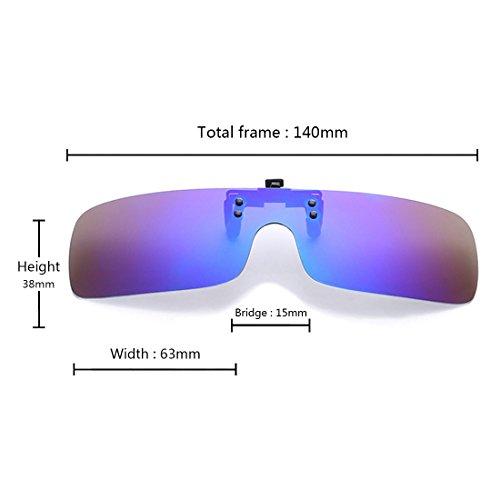 de gafas Up en Oscuro día de gafas Inlefen de Flip miopía de polarizadas Azul sol gafas Mujeres Retro gafas nocturna Clip Hombres UV400 sol visión qZwvIR