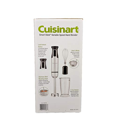 Cuisinart HB-155PC Smart Stick Stainless Steel Hand Blender with Whisk, Silver/Black