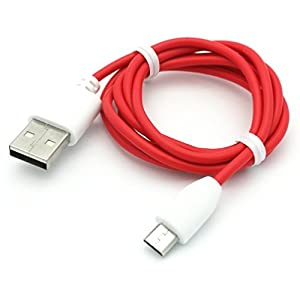 Samsung Galaxy Tab E NOOK 9.6 Compatible Premium Quality 3ft Micro USB Data Charging Cable Red