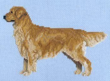Golden Cross Chart - Pegasus Originals Golden Retriever Counted Cross Stitch Chart Pack