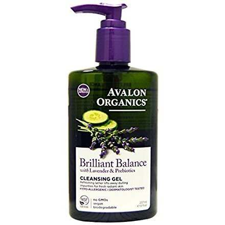 Avalon Organics, Brilliant Balance Cleansing Gel, with Lavender & Prebiotics, 8 fl oz (237 ml)